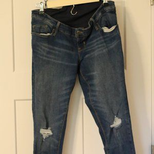 Old Navy distressed maternity skinny jeans